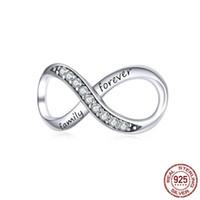 Lettere di gioielli in argento sterling in argento di alta qualità per sempre Famiglia Ciondolo di Charms infinito per collane braccialetto Cina all'ingrosso economico
