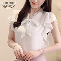 womens tops and blouses short sleeve women shirts chiffon bl...