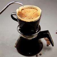 50pcs / Set 24 centímetros Branco Coffee Filtros única porção de papel para Filtro de café Máquina do bolo do copo de papel de café de filtro Papel bacia