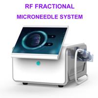 Elevación alta calidad fraccional de Microneedle cara RF Oro aguja Micro piel Rollar la cicatriz del acné Estrías Tratamiento de eliminación de máquina de belleza
