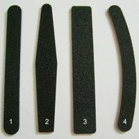 10PCS이 방법 블랙 180분의 100 그릿 바나나 네일 파일 버퍼 블록 네일 아트 샌딩 버퍼 파일 살롱 매니큐어 UV 젤 팁 세척 파일