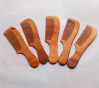 복숭아 나무 빗 제조 업체의 뜨거운 판매 치료는 광택 나무 빗 머리 빗으로 핸들 판매