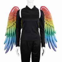 Марди Гра большой орел крылья костюм нетканые ткани Крыло ангела взрослый карнавал необычные костюмы праздничные принадлежности T2I5328