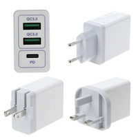 Dual USB QC 3. 0 + PD Wall Fast Charger Quick Charge Adapter ...
