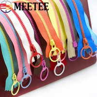 MEETEE 100pcs 3# Multicolor O Ring Puller Resin Zipper Close...