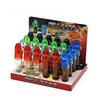 Mini Snuff bottiglia di plastica di vetro della miscela di colore nasale pipe bagagli barattolo vuoto pillola Caso 53 67 82 millimetri 2 8yh3 E1