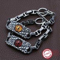 Другие браслеты S925 стерлингового серебра мужские браслеты личности личности моды Trend ювелирные изделия доминирующие глаза форма 2021 подарок для отправки любовника