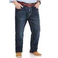 Los pantalones vaqueros de los hombres se relajaban en forma recta de comodidad al ajuste de cinco bolsillos Denim Jean Pant Menores grandes Talla grande 40 42 44 46 48