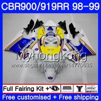 Lichaam voor HONDA CBR 900RR CBR 919RR CBR900 RR CBR919RR 98 99 278HM.9 CBR900RR CBR 919 RR CBR919 RR 1998 1999 BUIKERS ROTHMANS BLUE HOT KIT
