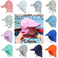 Baby Boys Girls Caps Sun Protection Swim Hats floral Childre...