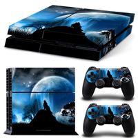 Стикер из виниловой кожи Wolf стиль для Sony PS4 Playstation4 Console и 2 контроллеров видеоигр аксессуар