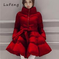 여성용 다운 파크스 2021 파카 코트 활 허리 솜털 치마 여성을위한 따뜻한 재킷 겨울과 긴 A1-1