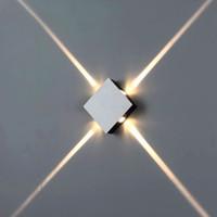 간단한 현대 창조적 인 호텔 프로젝트 KTV 광장 라운드 차가운 흰색 알루미늄 벽 램프 실내 조명 효과 LED 램프