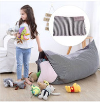 Stuffed Animal Storage Bean Bag Chair Large Canvas Pouch Str...