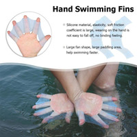 2pcs Silicone Swim Gear Fins Hand Web Flippers Training Divi...
