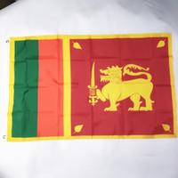 황동 그로멧 송료 무 스리랑카 국기 3x5FT 150x90cm 폴리 에스터 인쇄 실내, 실외 행잉 뜨거운 판매 국기