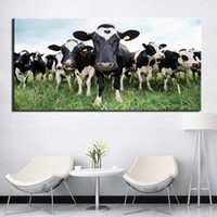 HD Printed Animal Cattle Cow Canvas Painting Home Decoration...