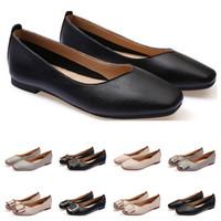 Ucuz bayanlar düz ayakkabı lager boyutu 33-43 kadın kız deri Çıplak siyah gri Yeni arrivel Çalışma düğün Parti Elbise ayakkabı oniki