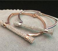 Golden silvery luxo cristal ferradura ferradura pulseiras strass pulseira feminina pulgula braço cuff presente do dia dos namorados