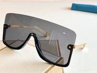새로운 패션 디자인 선글라스 0540 연결된 렌즈 작은 스타 Avant Garde와 큰 크기의 절반 프레임 인기있는 고글 최고 품질