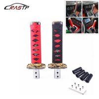 RASTP-Racing Curto Samurai Preto + Vermelho Espada alavanca de câmbio 150 milímetros de Metal Katana Shifter Knob para Universal Car RS-SFN025