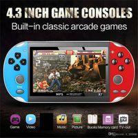 X7 4.3 pulgadas Consola de videojuegos MP5 8GB ROM Double Rocker Dual Joystick Arcade Juegos de mano Juego de mano Player Portátil Retro consola 4.3 pulgadas