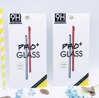 Paquete de caja vacío Paquete de paquete al por menor Paquete Protector de pantalla de cristal templado Premium 9H para iphone XS Max XR X 8 Plus S7 Egde S6