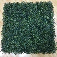 Partido Plantas de simulación artificial de hierbas de césped Paisaje de plástico verde del césped de la puerta tienda Imagen contexto de la hierba Flores de la boda decoración de la pared