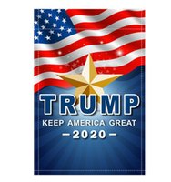 30pcs 2020 Donald Trump Garden Flag 30 x 45 cm esterno decorare bandiere da giardino Oxford