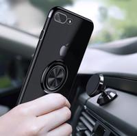 pour iPhone 11 Pro Max galvanoplastie TPU Annulaire Support Mobile Téléphone Couverture souple TPU silicone transparent
