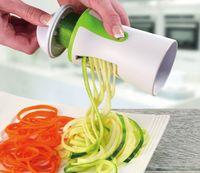 Sıcak Sebze Spiralizer El Spiral Kesici Rendeler Taşınabilir Havuç Sebze Dilimleme Spagetti Makarna Meyve Rende KitchenTools Meyve Gra