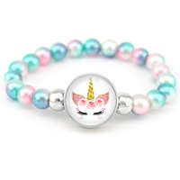 Unicorn Beads Bracelets Mermaid Trendy Jewelry Women Girls B...