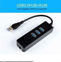 USB .0 TYPE-C USBC HUB 1000MBPS Gigabit Ethernet Adaptateur vers la carte réseau RJ45 LAN 3 PORT USB3.0