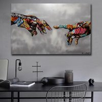 Art Print Poster Graffiti Pop Pintura Street Art Urban Art on Canvas Pictures mão de parede para Living Room Home Decor