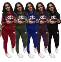 Champions Women Hoodies Two Piece Set Outfits Pullover+ Leggi...