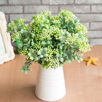 7 ramos verde artificiais baga buquê de flores plantas de frutas artificiais mini folha ao ar livre sala de estar decoração de casamento