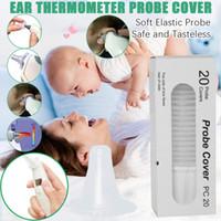 DHL 20pcs / lot الشحن ميزان حرارة الأذن مسبار يغطي استبدال عدسة فلاتر الأغطية الغلاف القابل للتصرف الطفل ميزان الحرارة لالترمس يمكن استخدام