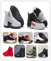 Avec Box 12 Chaussures de Basketball Taxi Inverse 12s CNY Blanc Gris GYM ROUGE Noir minuit XII Grippe Baskets de sport Shippment Free