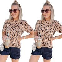 Womens Designer T Shirts Leopard Printed Hot Style Sweet Cre...