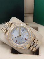 고급 남성 시계 데이 데이트 남자 자동 기계식 시계 다이아몬드 남자 스테인레스 스틸 스트랩 시계 스포츠 손목 시계
