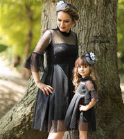 Mommy and Me Family Matching Clothes Black Lace Dress Girls ...
