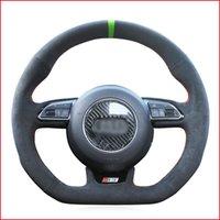 Black Suede DIY volant de voiture pour Audi S1 Couverture 8X S3 Sportback 8V S4 B8 Avant S5 8T S6 C7 S7 G8 RS Q3 8U SQ5 8R