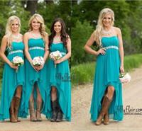 Vestidos baratos de dama de honor 2019 Turquoise de color azul turquesa Sweetheart High Long Peplum Long Peplum Wedding Wedding Weardmaids Maid Honor Vestidos