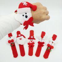 Natale creativo Patting Circle fascini braccialetti per regalo del regalo del giocattolo della vigilanza dei bambini di natale Babbo Natale del pupazzo di neve dei cervi partito di nuovo anno
