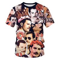 Hop Rock Hipster maglietta di marca Mens T-shirt Singer Mens Hip Rap Cantante di modo di stampa del modello di formato S-6XL