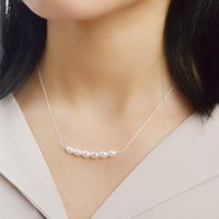 ASHIQI 925 Sterling Silver Necklace Natural Freshwater Pearl Handmade jewelry for women Fine Gift