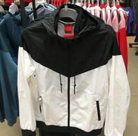 Горячие мужчины женщины известные Desinger толстовки с капюшоном осень длинный рукав молния ветровка SPORTWEAR Workout мужские куртки ветровка