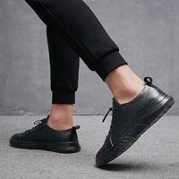 NEW Men Casual Shoes Matens Leather Sneakers Big Size 38-48 for Men Shoes Men Fashion Flats Brand Fashion Zapatos De Hombre *S1988