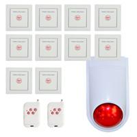 Neueste notrufsystem wireless button 86mm an der wand montiert 433 mhz Home alarmanlage krankenhaus und hotelzimmer verwenden