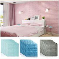 70 * 77 3D Wandaufkleber DIY Self ADhesive Decor Schaum Wasserdichte Wanddekorationen Decken Wand Kinder Wohnzimmer Dekorationen XD22506